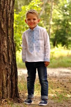 Вышиванка детская для мальчика из натурального льна