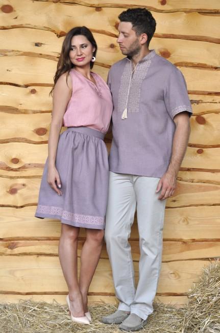 Вышиванка мужская и женский топ и юбка с вышивкой