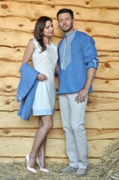 Вышиванка мужская и  женское платье с вышивкой