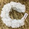 Ободок «Белые розы»