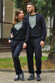 Костюм мужской  и женский комбинезон с вышивкой