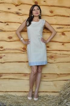 Платье-футляр из натурального льна