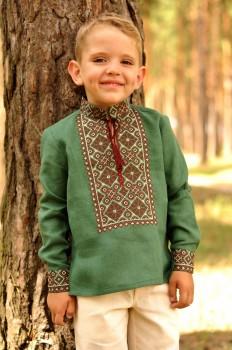 Детская вышиванка для мальчика из натурального льна
