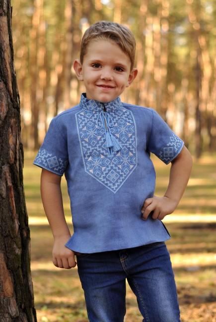 Вышиванка детская для мальчика с коротким рукавом