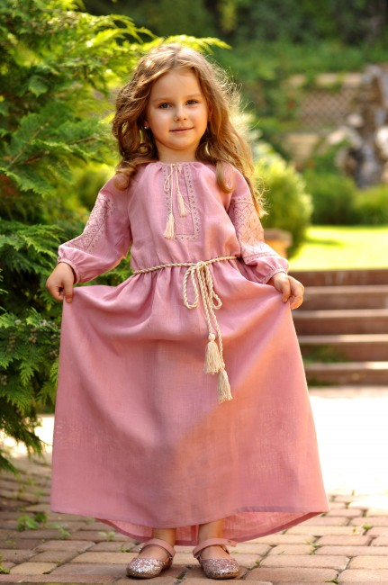 Длинное нарядное платье для девочки