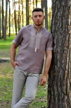 Льняная рубашка с вышивкой для стильного мужчины