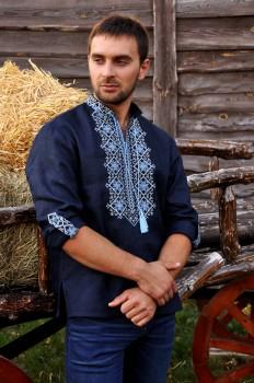Вышиванка мужская синяя