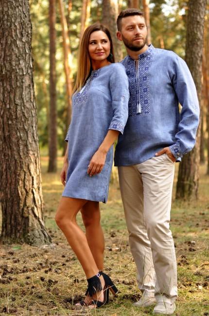 Вишита чоловіча сорочка і оригінальна сукня-трансформер з тонкого льону
