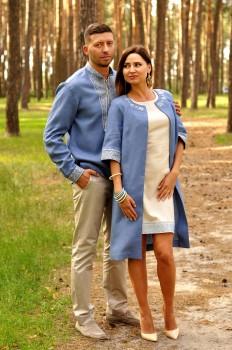 Вышиванка мужская и женское летнее пальто и платье с вышивкой