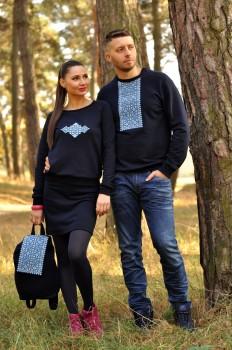 Свитшот мужской  и женский с вышивкой