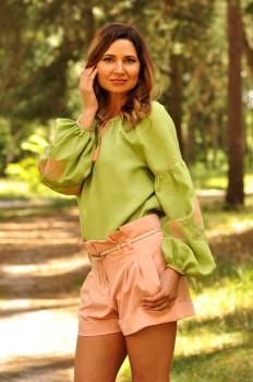 Современная женская вышиванка из натурального льна